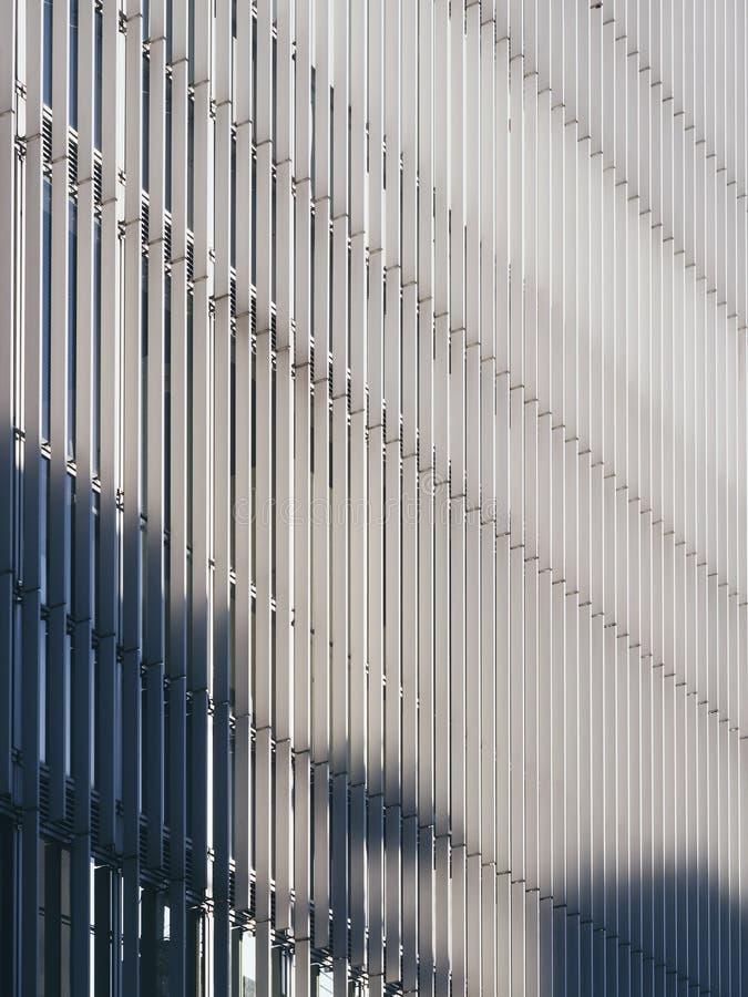 Modelo de acero de la fachada del detalle de la arquitectura del modelo imagen de archivo