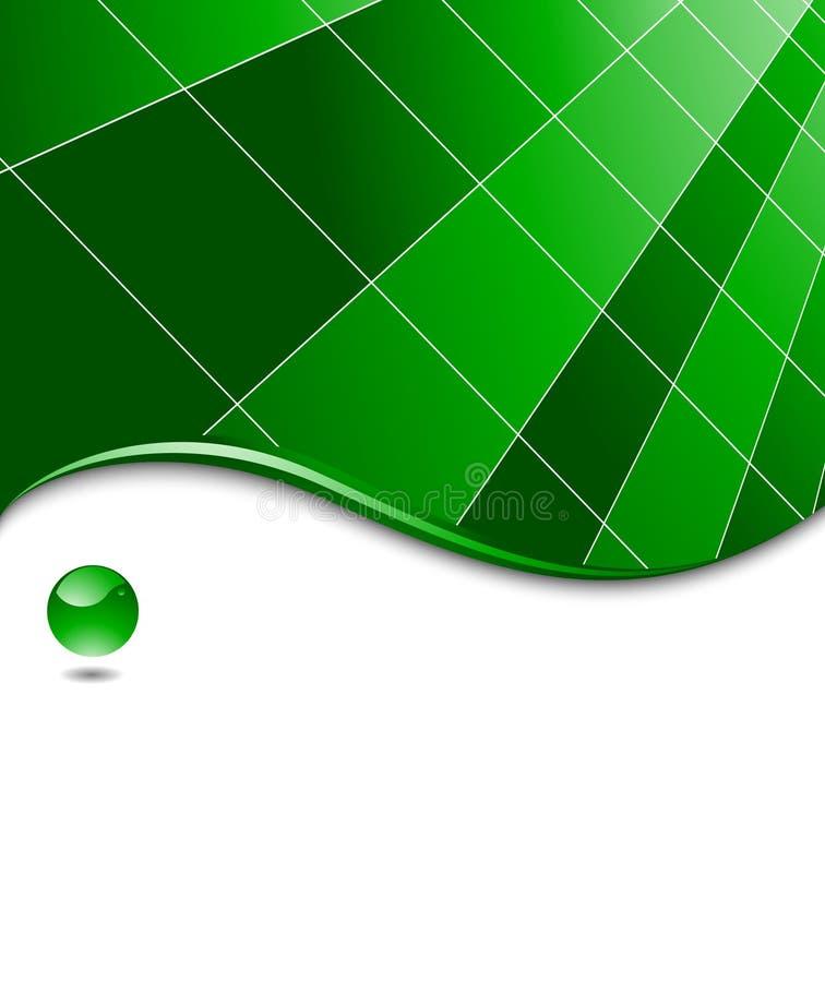 Modelo de alta tecnología abstracto verde del asunto libre illustration
