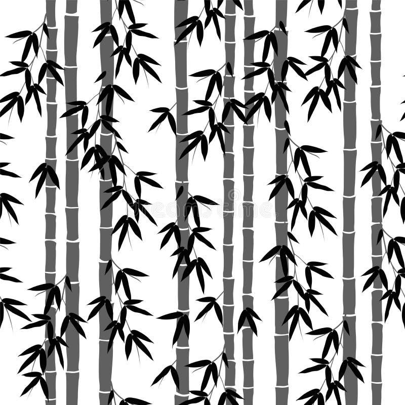 Modelo de bambú inconsútil del papel pintado libre illustration