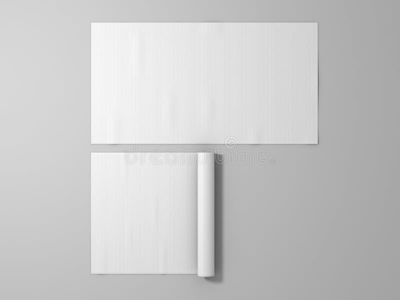 Modelo de borracha branco vazio da esteira do esporte, fotografia de stock