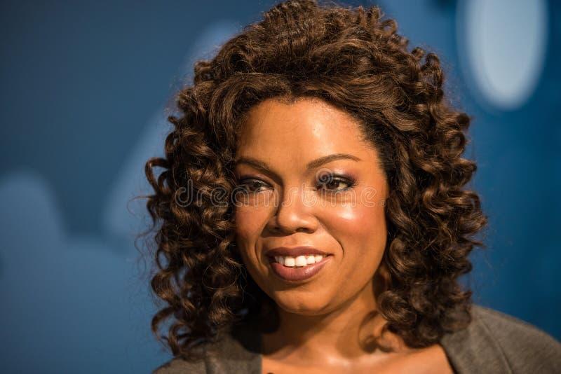 Modelo de cera de Oprah Winfrey na exposição na senhora Tussauds imagens de stock royalty free