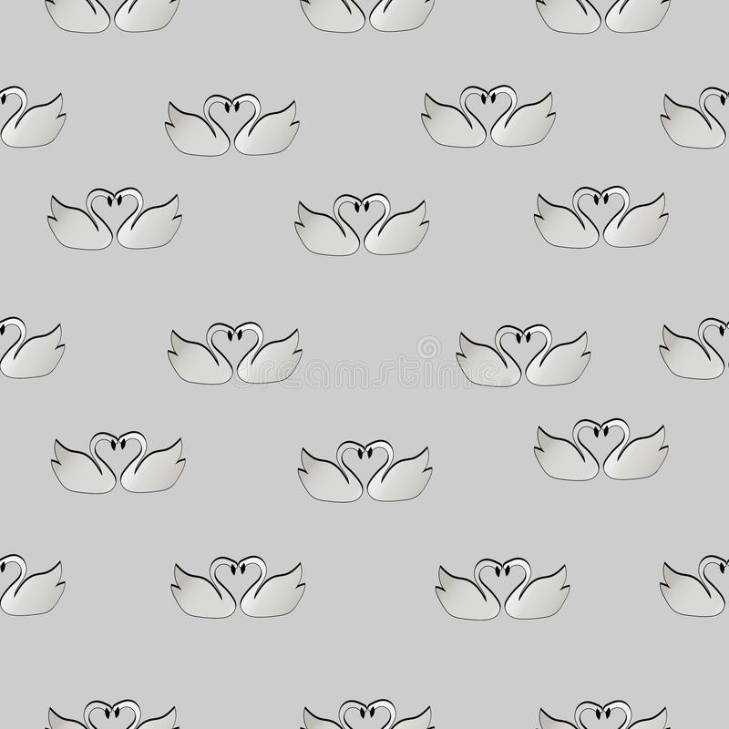 Modelo de cisnes en amor ilustración del vector