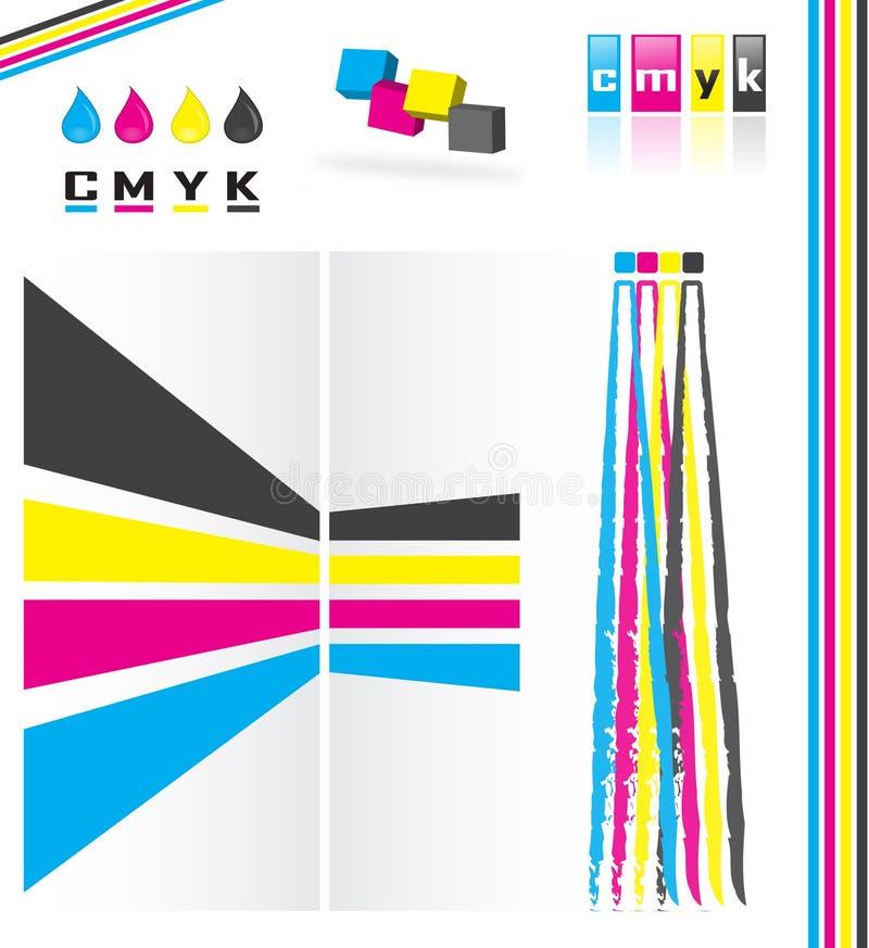 Modelo de color de Cmyk ilustración del vector