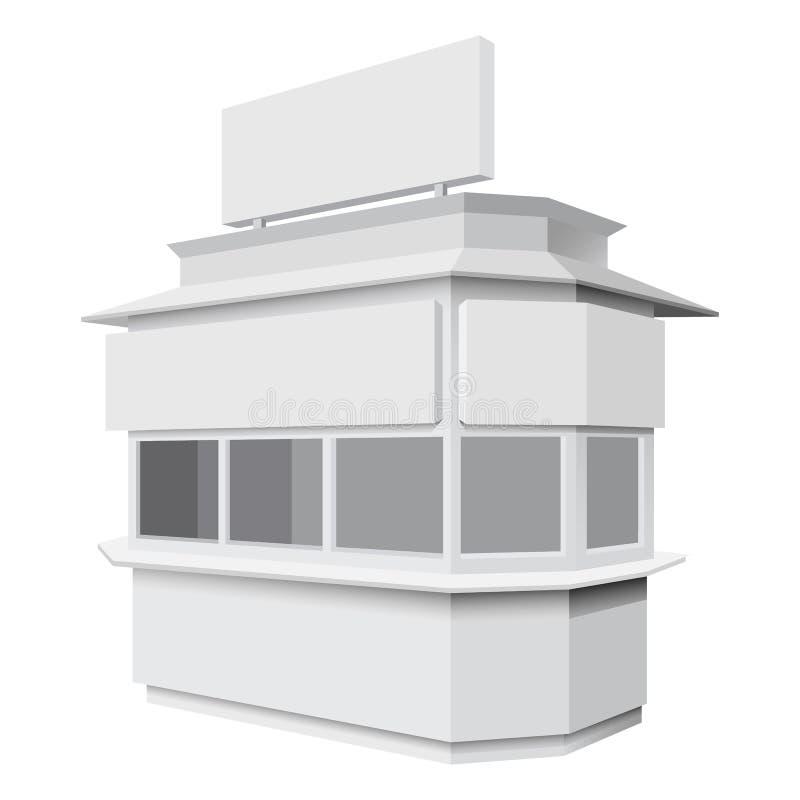 Modelo de comércio da cabine, estilo realístico ilustração do vetor