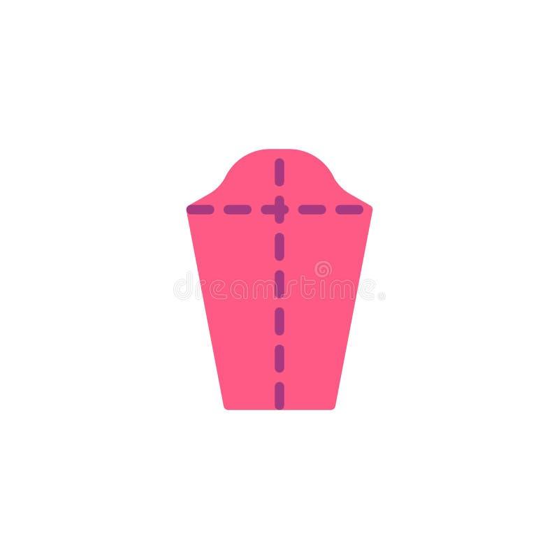 Modelo de costura, icono plano del tejido ilustración del vector