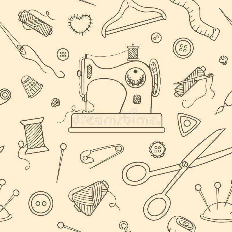 Modelo de costura inconsútil del bosquejo libre illustration