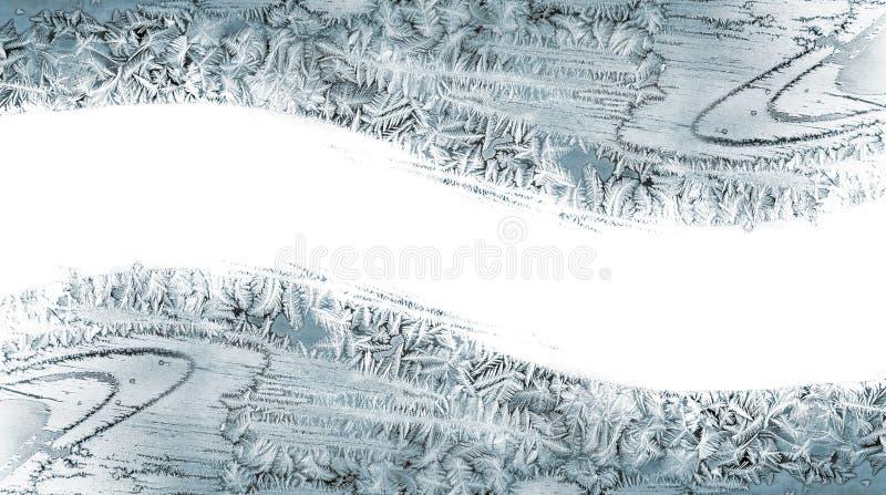Modelo de cristales de hielo en un cristal ilustración del vector