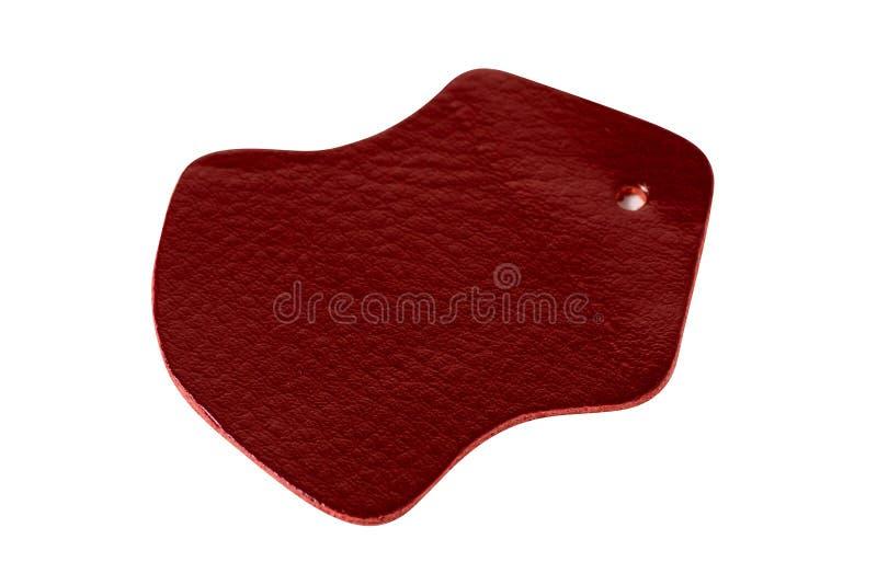 Modelo de cuero rojo del pedazo fotos de archivo libres de regalías