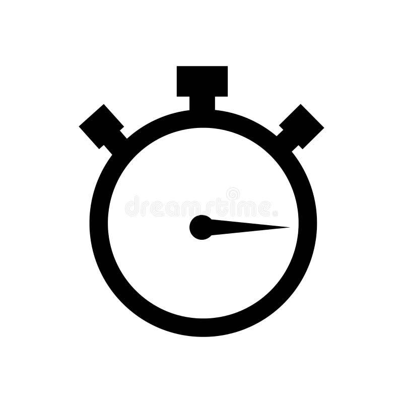 Modelo de design de ilustração de vetor de vetor de logotipo do cronômetro de cronômetro de cronômetro / stop watch ilustração stock