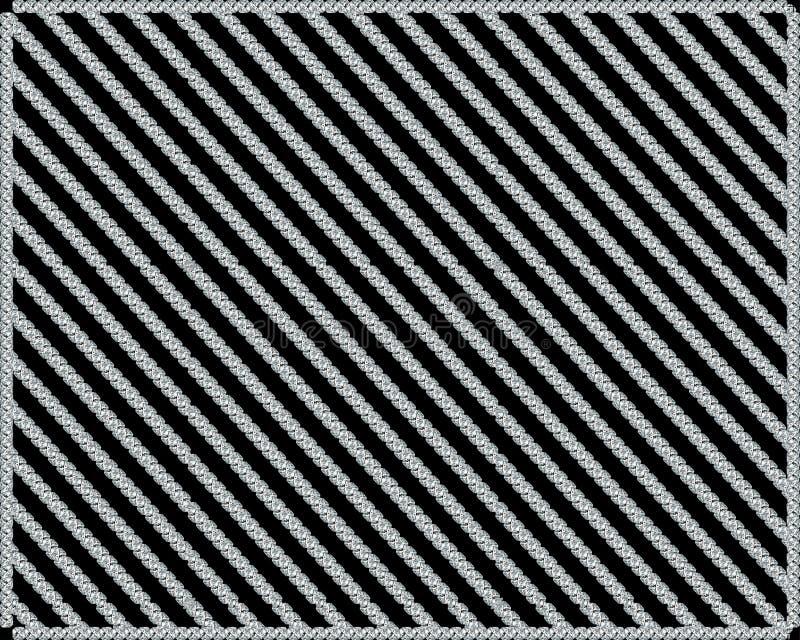 Modelo de diamantes en un fondo negro stock de ilustración