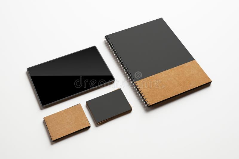 Modelo de elementos de identidade foto de stock
