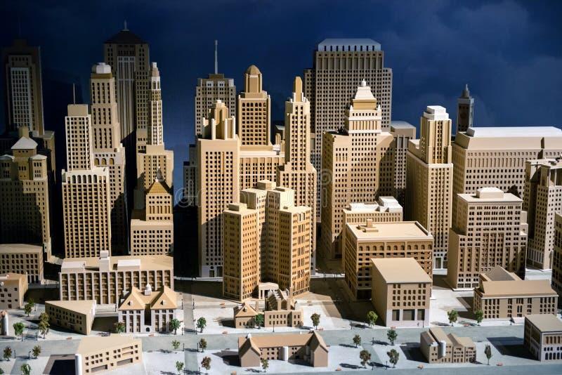 modelo de escala 3d de una ciudad fotografía de archivo