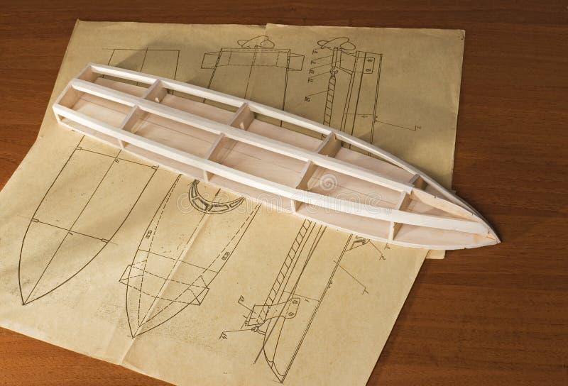 Modelo de escala de la nave fotos de archivo