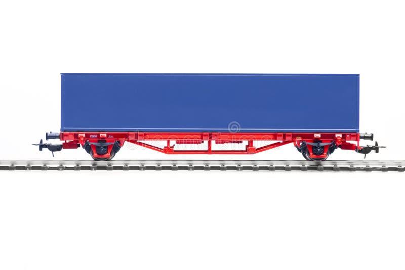 Modelo de escala del carro del envase fotos de archivo libres de regalías