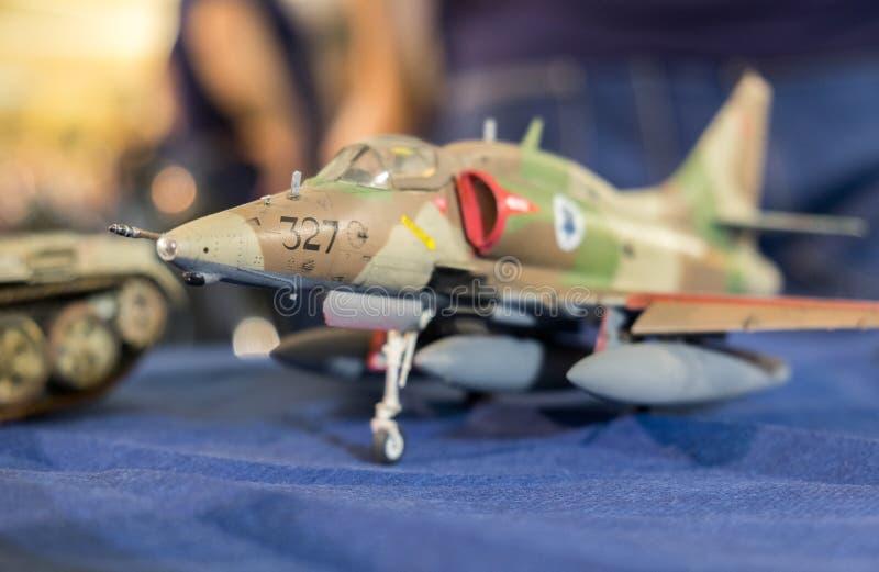 Modelo de escala del halcón de la lucha del F-16 de General Dynamics foto de archivo libre de regalías