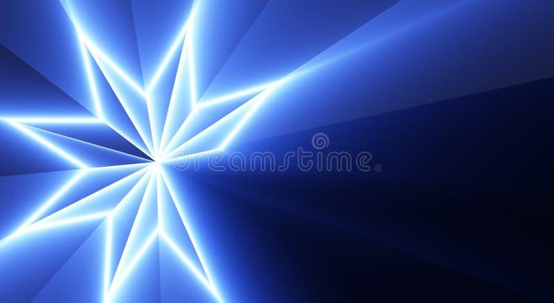 Modelo de estrella azul imagenes de archivo