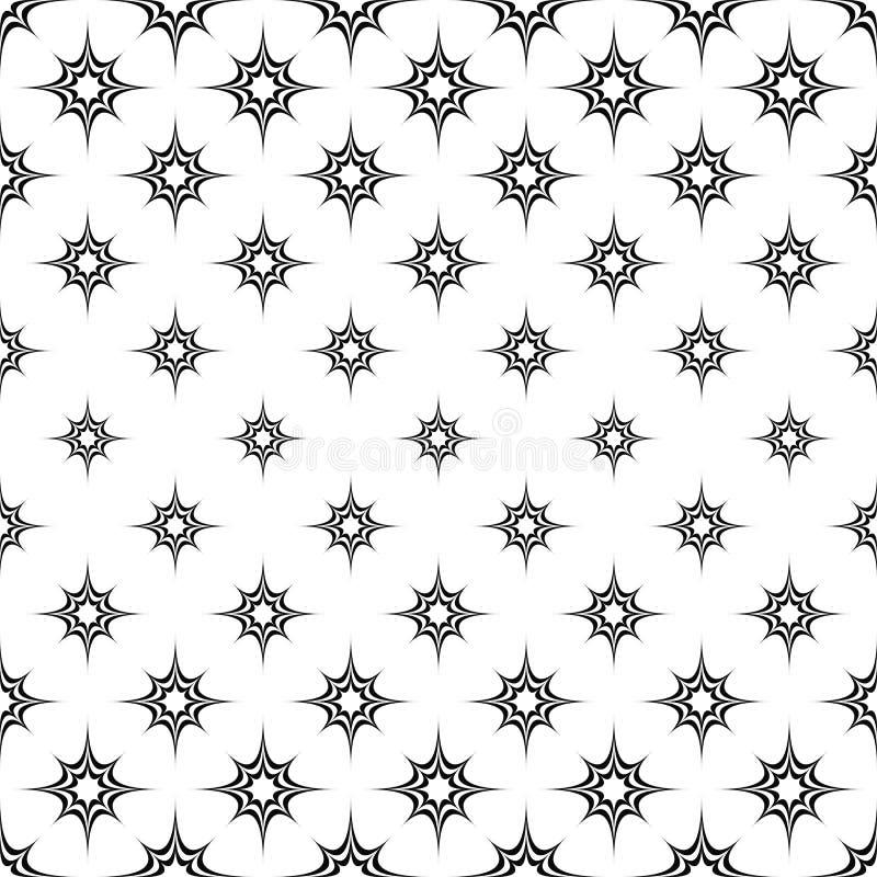 Modelo de estrella curvado monocromo inconsútil ilustración del vector