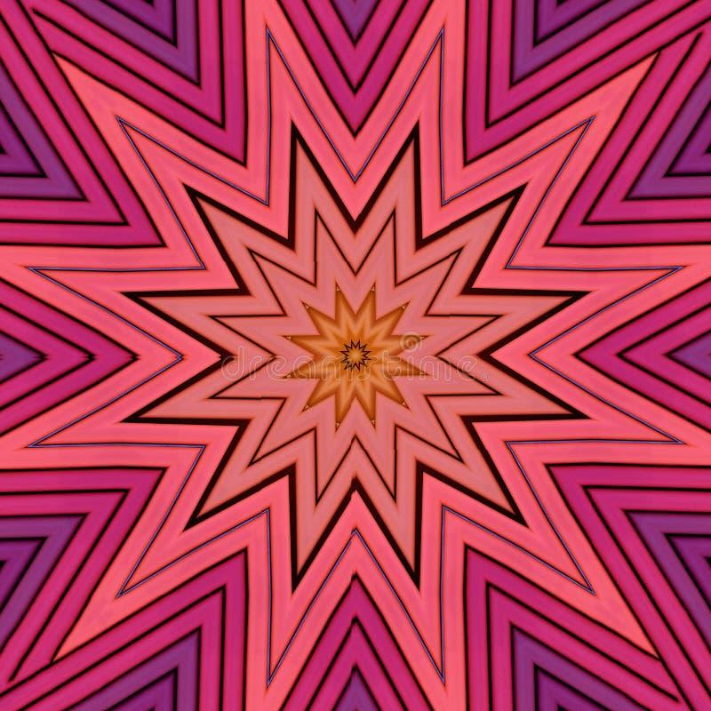 Modelo de estrella de los rollos geométrico dispuestos del papel ilustración del vector