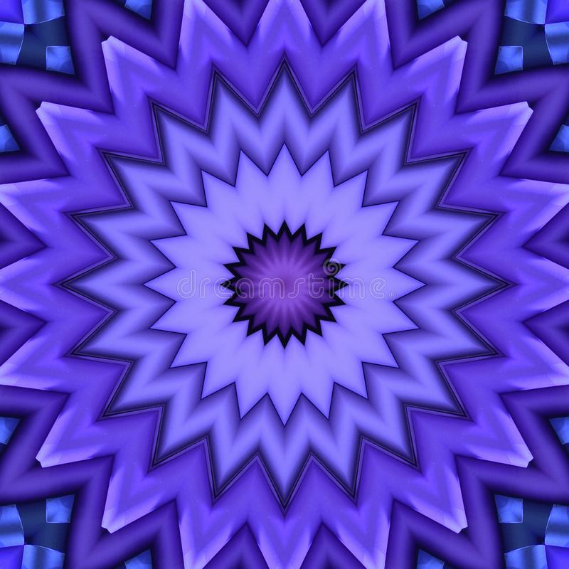 Modelo de estrella de los rollos geométrico dispuestos del papel libre illustration