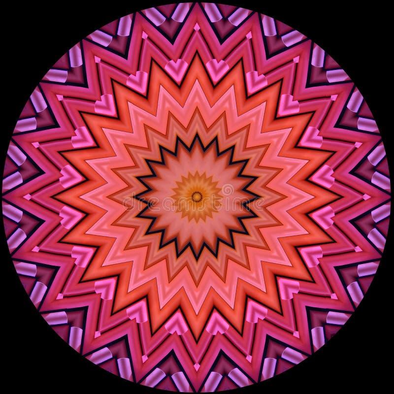 Modelo de estrella de los rollos geométrico dispuestos del papel stock de ilustración