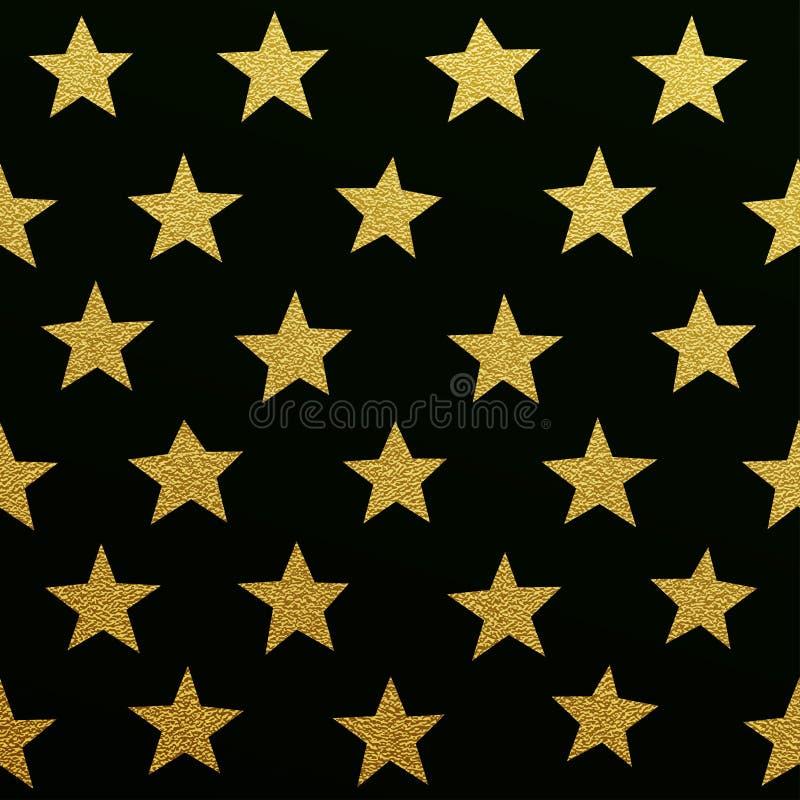 Modelo de estrellas del oro que brilla stock de ilustración