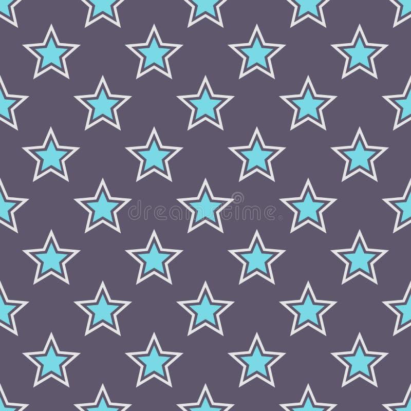 Modelo de estrellas inconsútil abstracto libre illustration