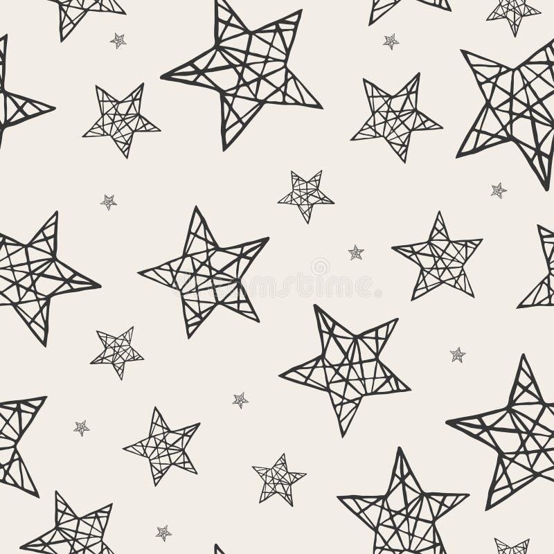 Modelo de estrellas inconsútil del vector ilustración del vector