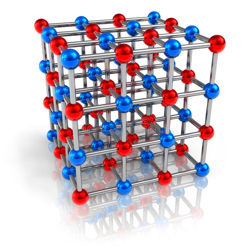 Modelo de estructura molecular ilustración del vector