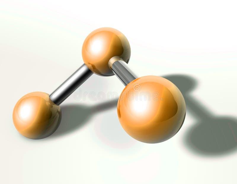 Modelo de estrutura de Moecule ilustração do vetor