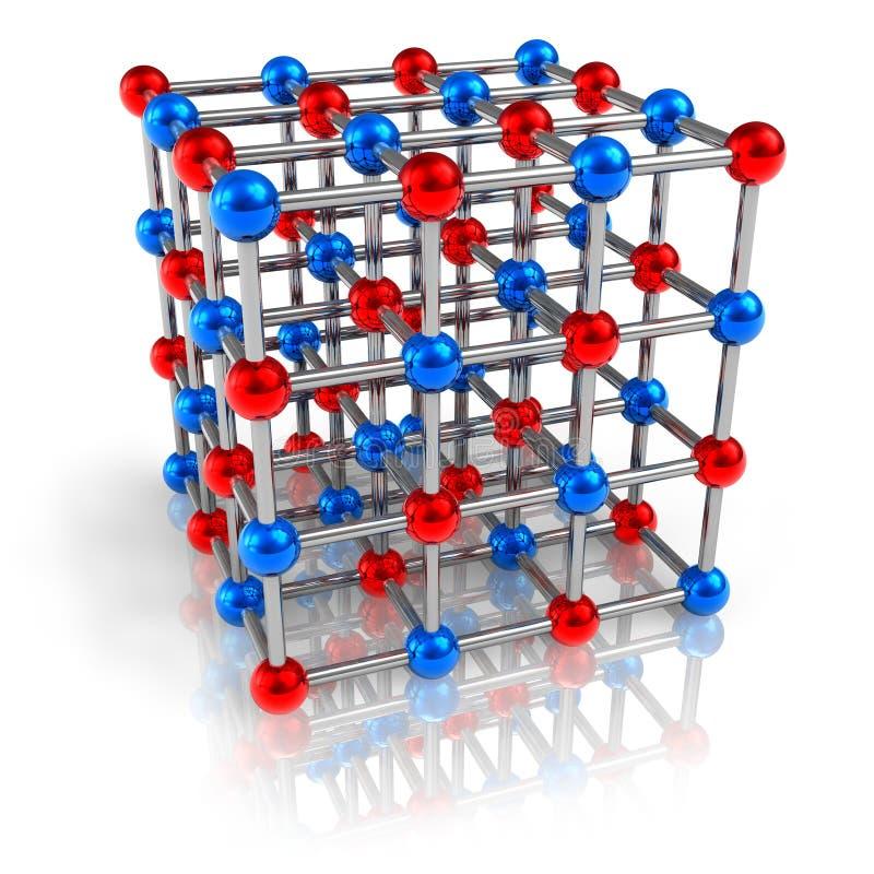 Modelo de estrutura molecular ilustração do vetor