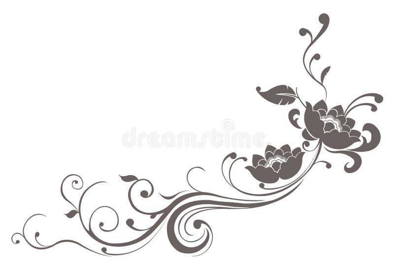 Modelo de flor de loto ilustración del vector