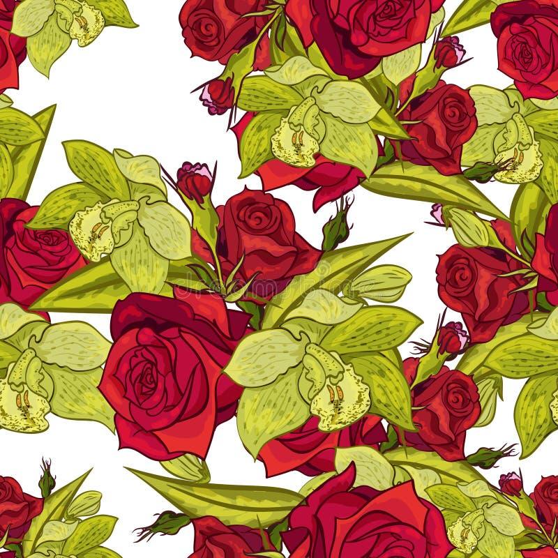 Modelo de flor inconsútil del vector libre illustration