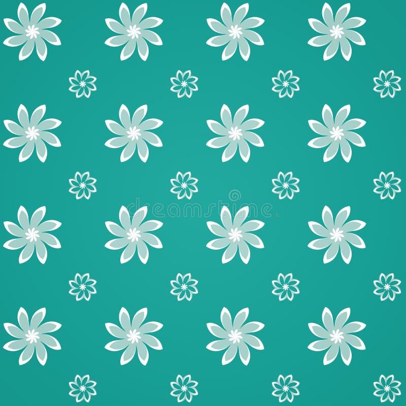 Modelo de flor verde de Sealmess stock de ilustración