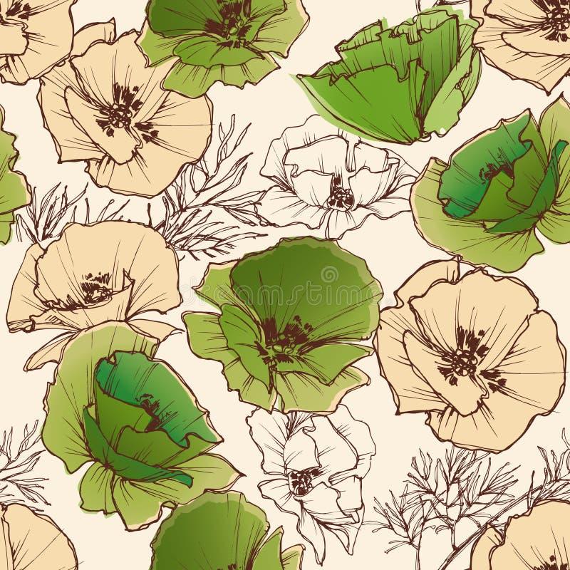 Modelo de flores de la primavera stock de ilustración