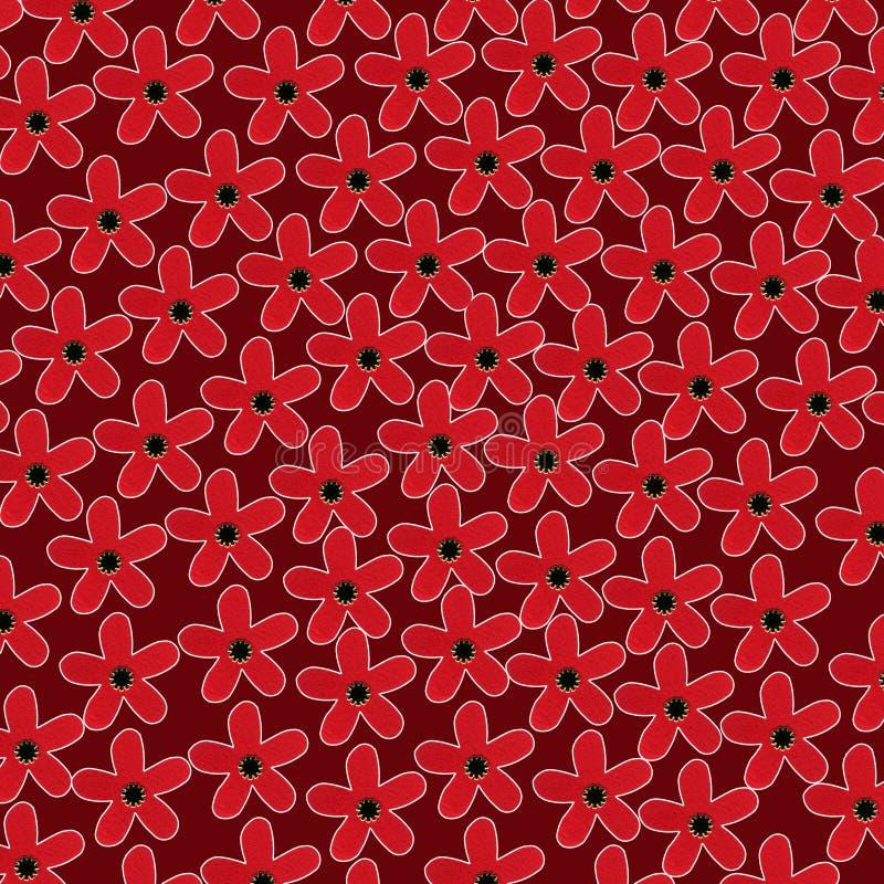Modelo de flores estilizadas ilustración del vector