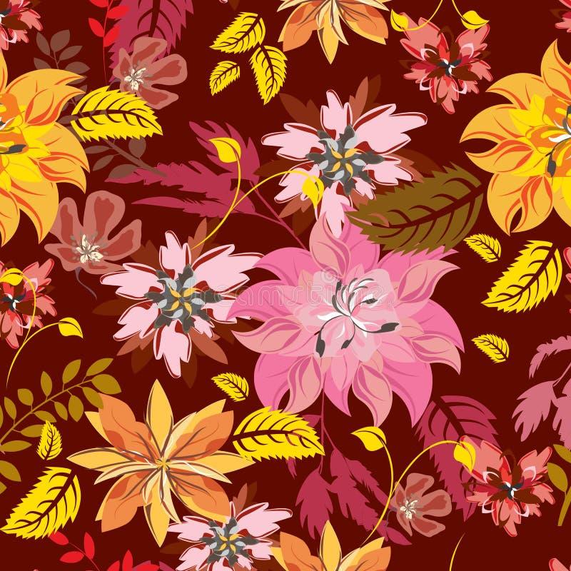 Modelo de flores inconsútil ilustración del vector