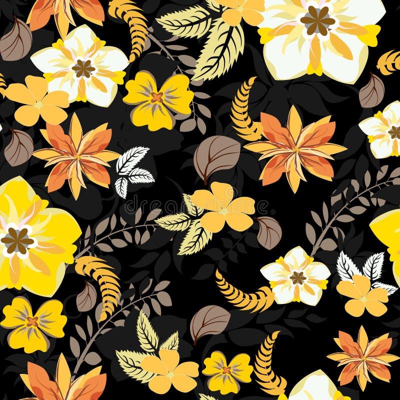 Modelo de flores inconsútil stock de ilustración
