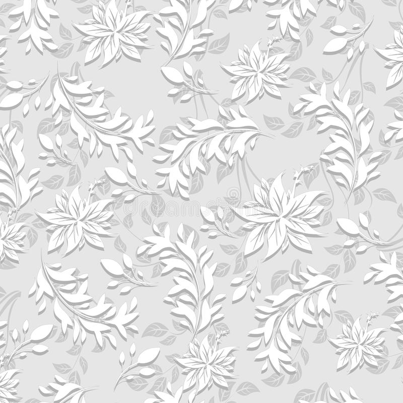 modelo de 3 flores inconsútil de d ilustración del vector