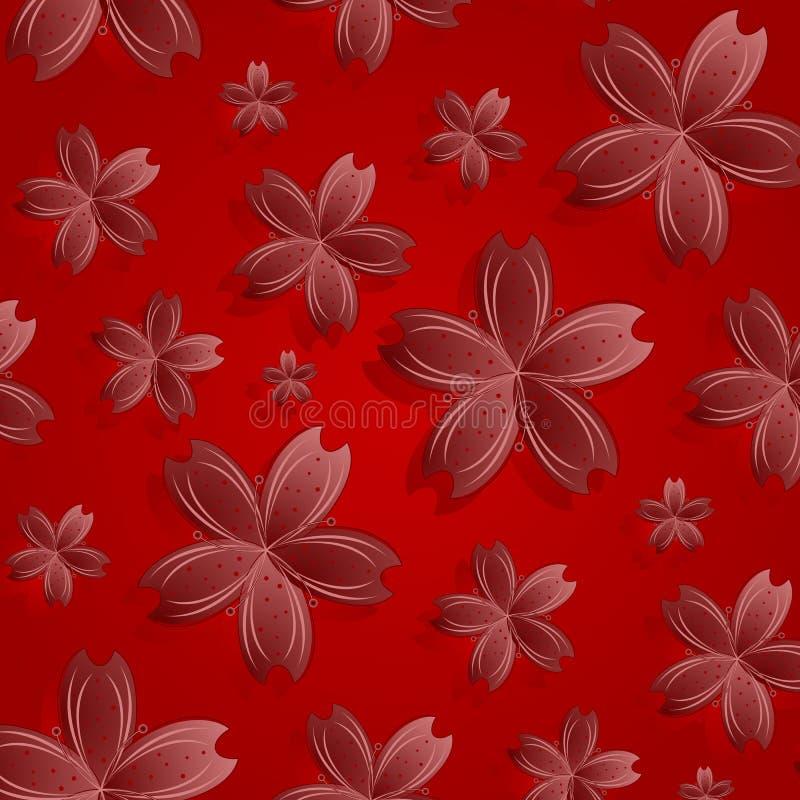 Modelo De Flores Rojo Fotos de archivo libres de regalías