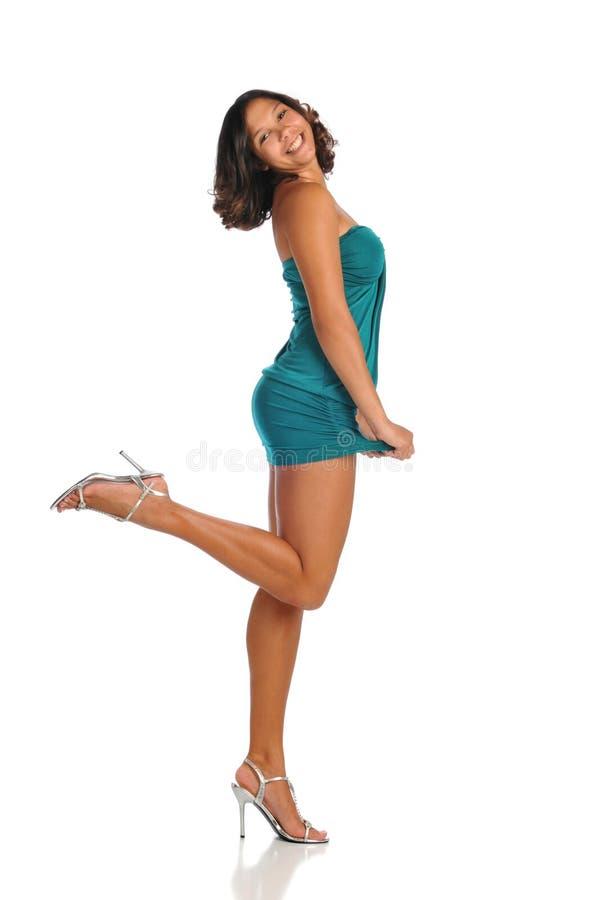 Modelo de forma da mulher nova imagens de stock