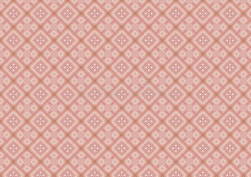 Modelo de forma diamantada rosado stock de ilustración