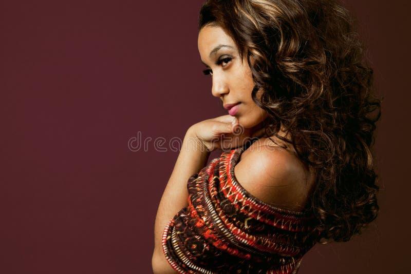 Modelo de forma do African-american. fotografia de stock royalty free