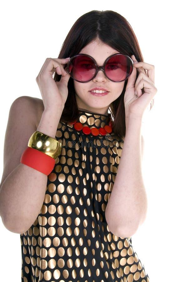 Modelo de forma do Couture fotografia de stock royalty free