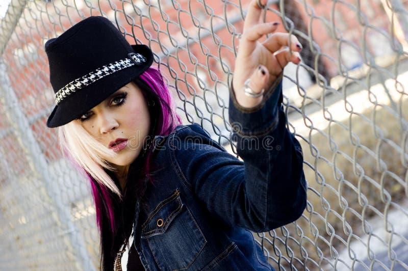 Modelo de forma do punk imagens de stock
