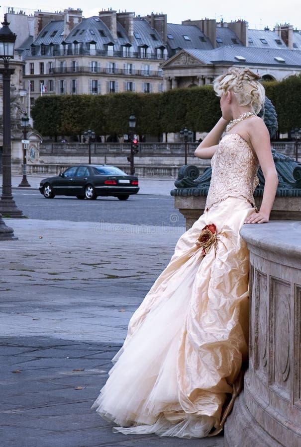 Modelo de forma em Paris imagens de stock royalty free