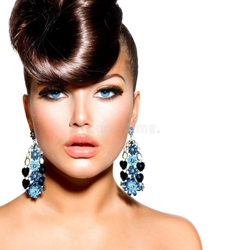 Modelo de forma Girl Portrait imagem de stock royalty free