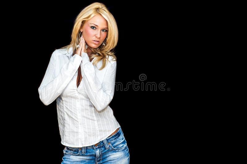 Modelo de forma louro fotografia de stock royalty free