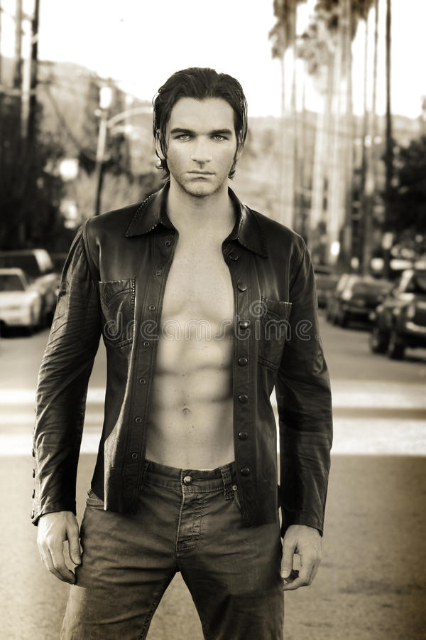 Modelo de forma masculino 'sexy' imagens de stock royalty free