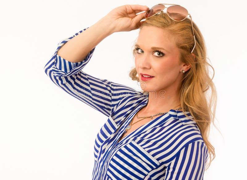 Modelo de forma Portrait do verão foto de stock royalty free