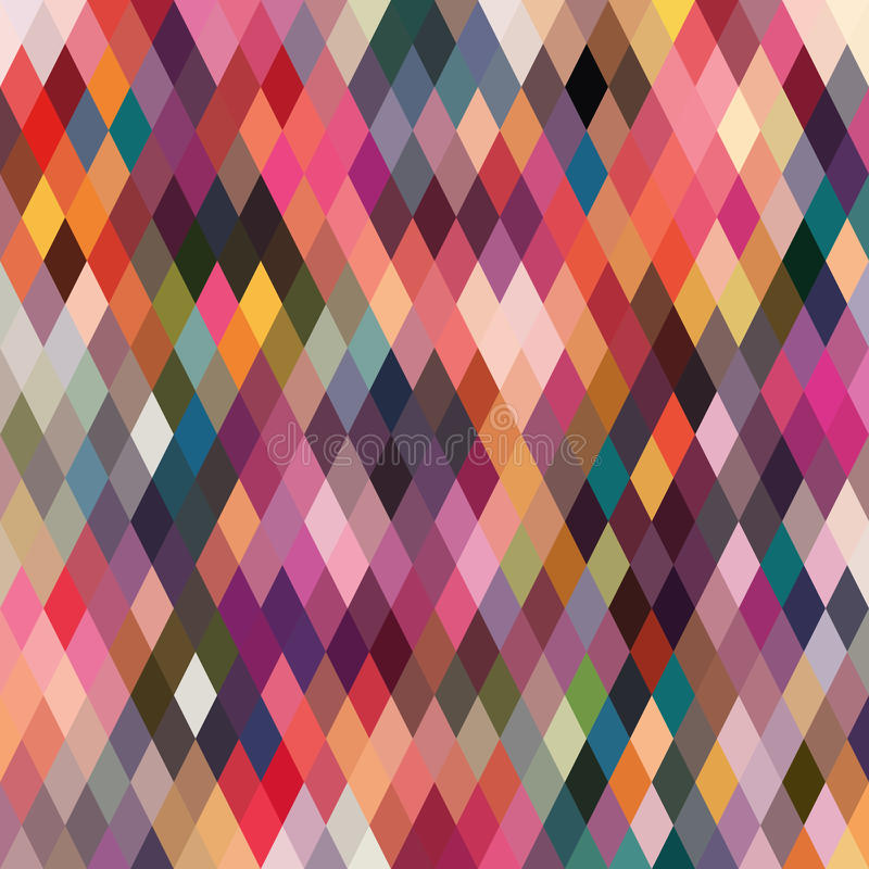 Modelo de formas geométricas, rombal Textura con el flujo de spectr libre illustration